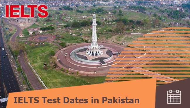 IELTS test dates in Pakistan for Pakistani students
